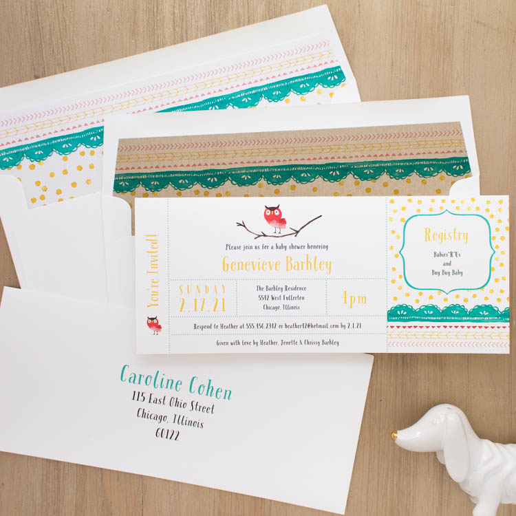 Little Owl Baby Shower Invites