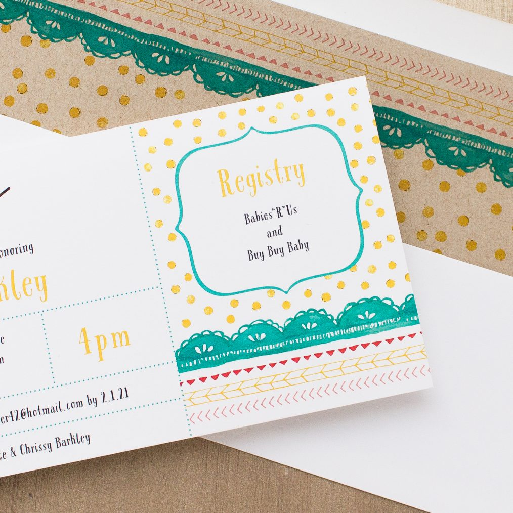 Little Owl Baby Shower Invitations