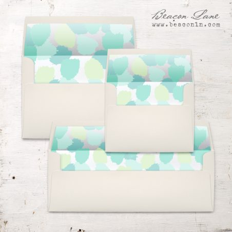 Mint Brushstrokes Envelope Liner