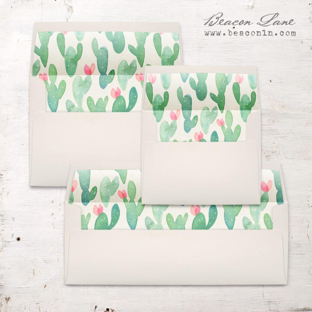 Mint Cactus Envelope Liner