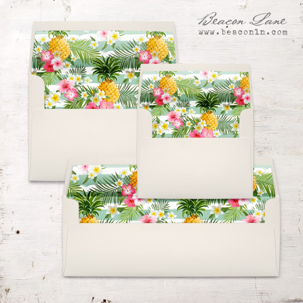 Pineapple Party Envelope Liners