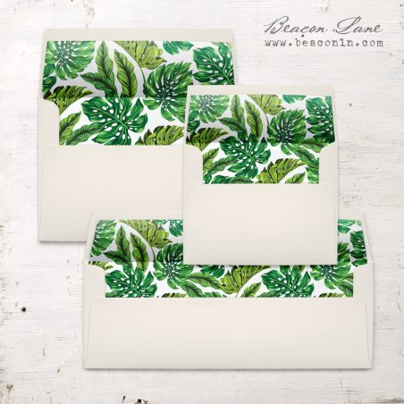 Monstera Leaf Envelope Liner