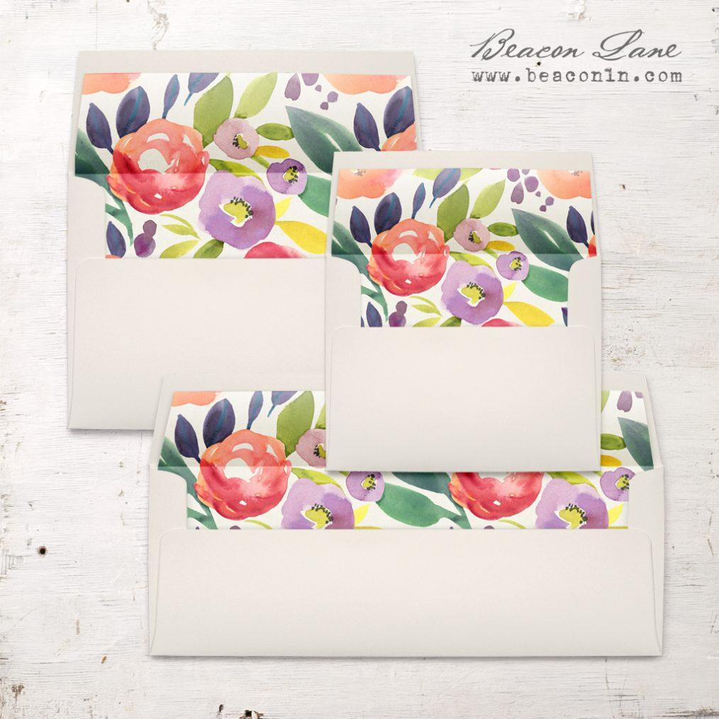 Multicolor Floral Envelope Liner
