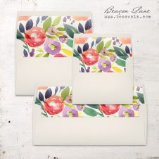 Multicolor Floral Envelope Liner