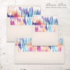 Multicolor Ikat Envelope Liner
