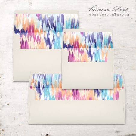 Multicolor Ikat Envelope Liner