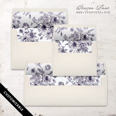 Navy Bouquet Envelope Liner