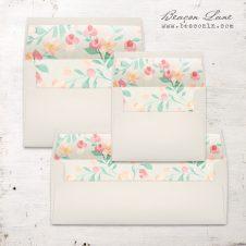 Peach Blossoms Envelope Liner