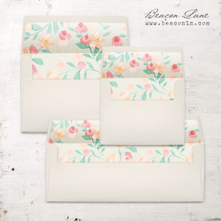 Peach Blossoms Envelope Liner