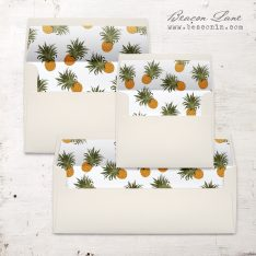 Mod Pineapple Envelope Liners