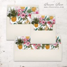 Pineapple Hibiscus Envelope Liners