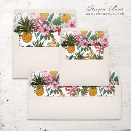 Pineapple Hibiscus Envelope Liners