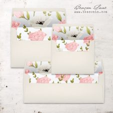 Pink and White Floral Envelope Liner