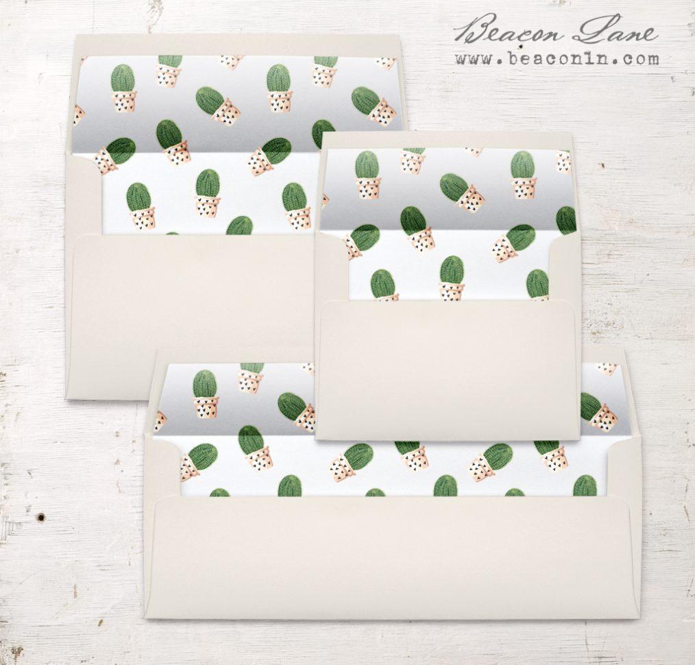 Potted Cactus Envelope Liner