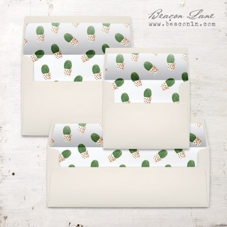 Potted Cactus Envelope Liner