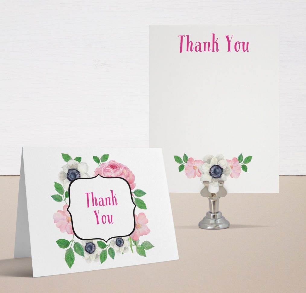 Pretty In Pink Baby Shower Thank You Cards