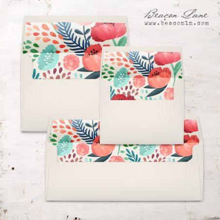 Floral Garden Envelope Liner