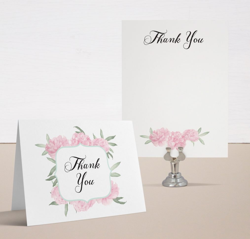 Ruffles & Ribbons Baby Shower Thank You Cards