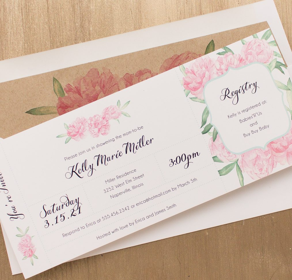 Ruffles & Ribbons Baby Shower Invitation