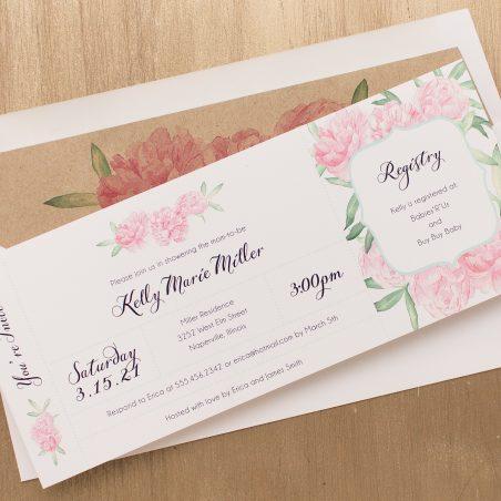 Ruffles & Ribbons Baby Shower Invitations