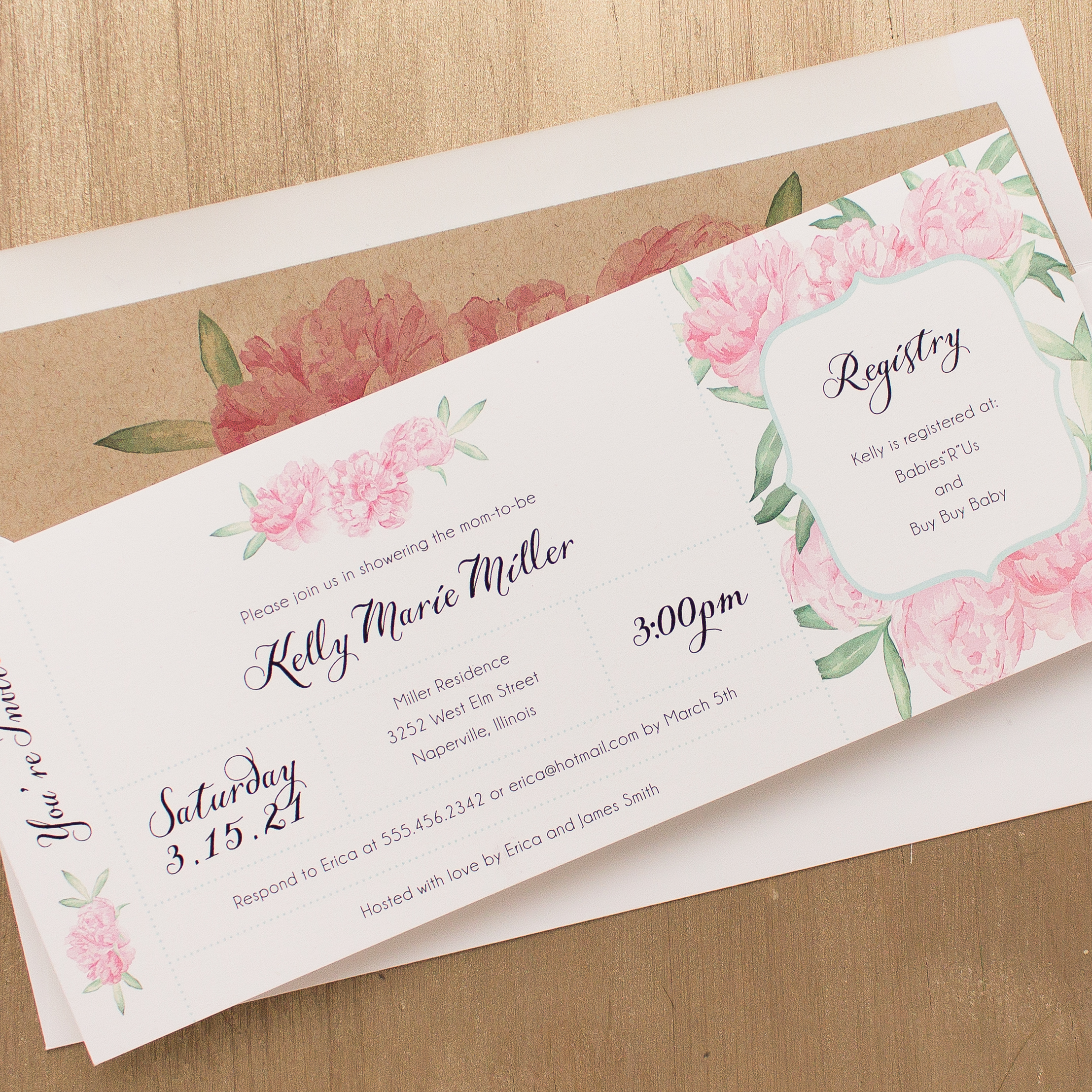 shop baby long baby shower invites ruffles ribbons
