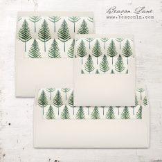 Vintage Fern Envelope Liner