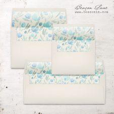 Floral Sapphire Envelope Liner