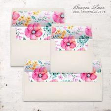 Spring Flowers Envelope Liners