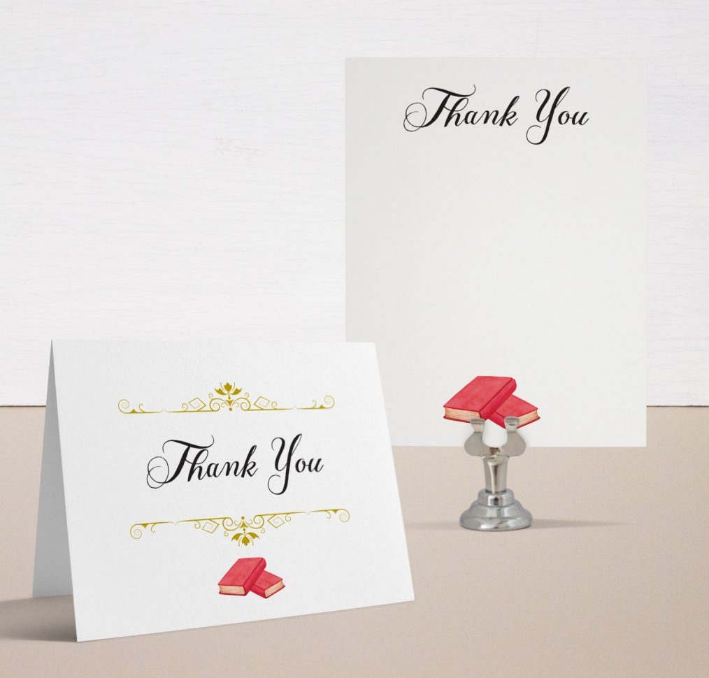Story Time Baby Shower Thank You Cards