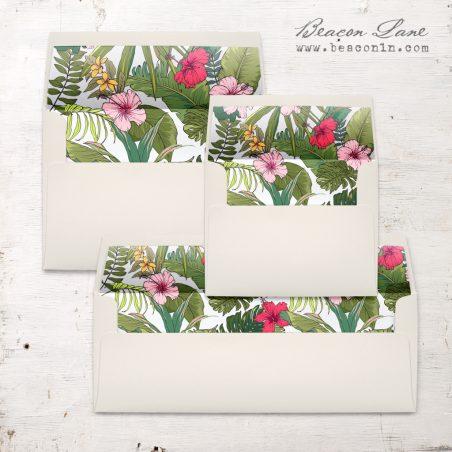 Summer Hibiscus Envelope Liner