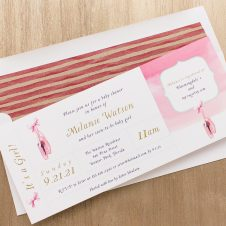 Sweet Ballerina Baby Shower Invitations