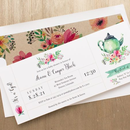 Tea Time Baby Shower Invitation
