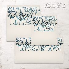 Teal Branches Envelope Liner