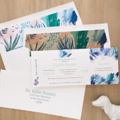 Tropical Splash Baby Shower Invites