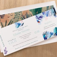 Tropical Splash Baby Shower Invitations
