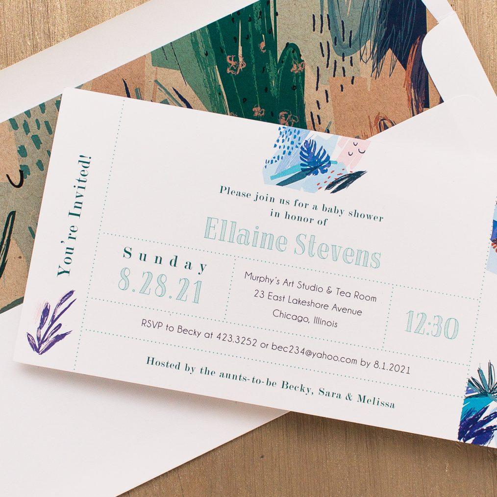 Tropical Splash Baby Shower Invitations