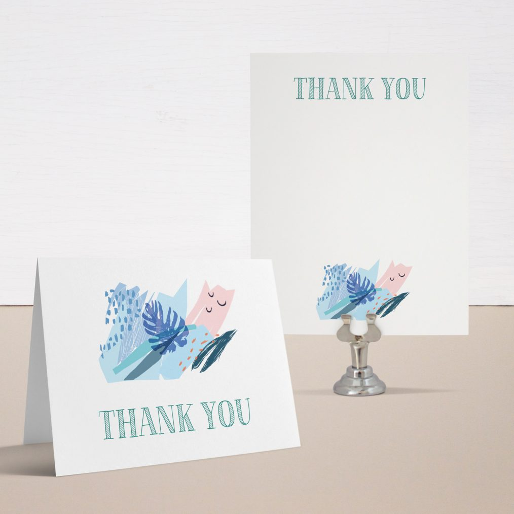 Tropical Splash Baby Shower Thank You Cards