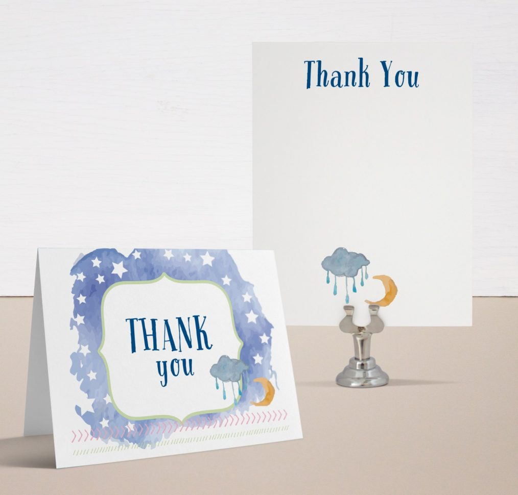 Twinkle Twinkle Little Star Baby Shower Thank You Cards