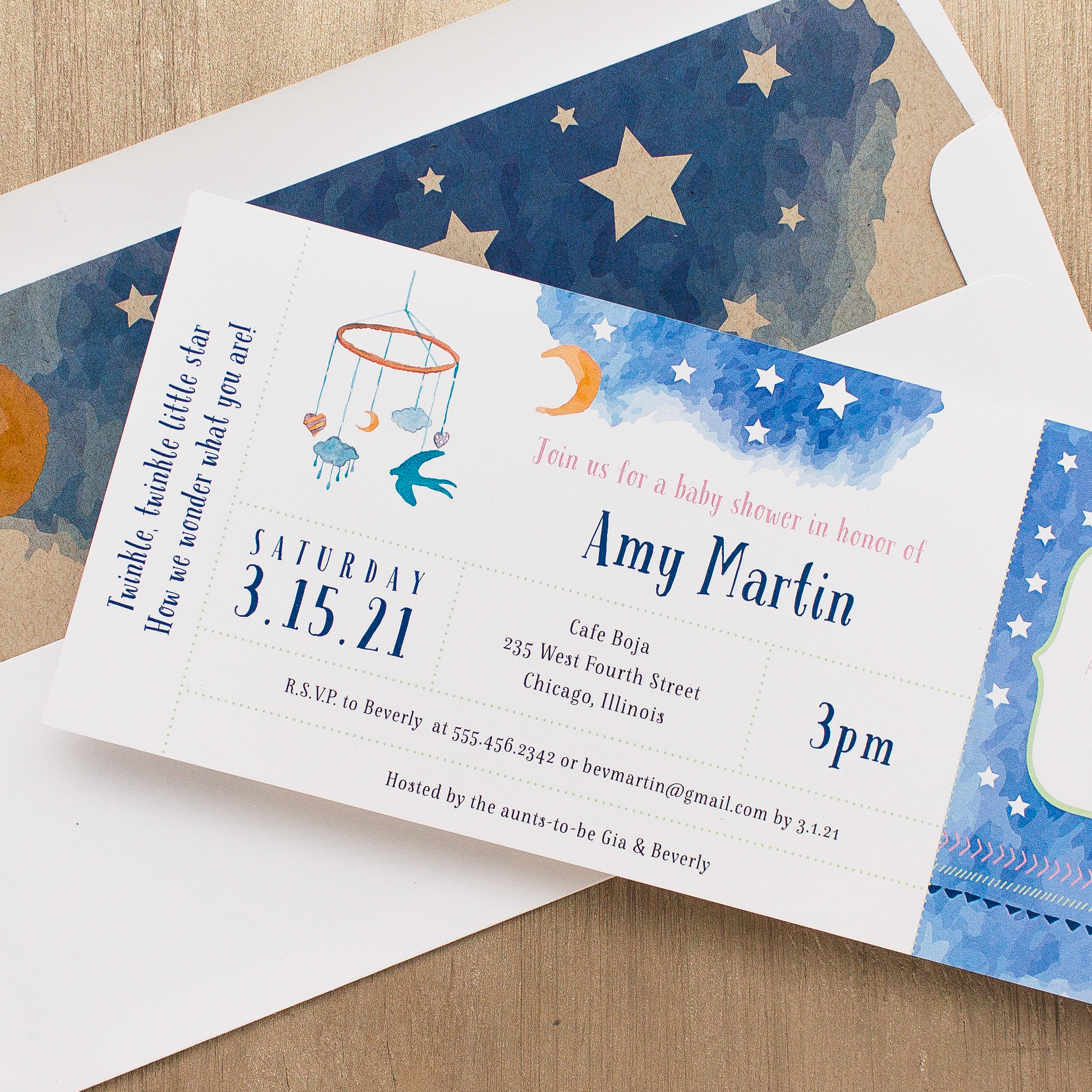 Twinkle Twinkle Little Star Baby Shower Invitations Home Design