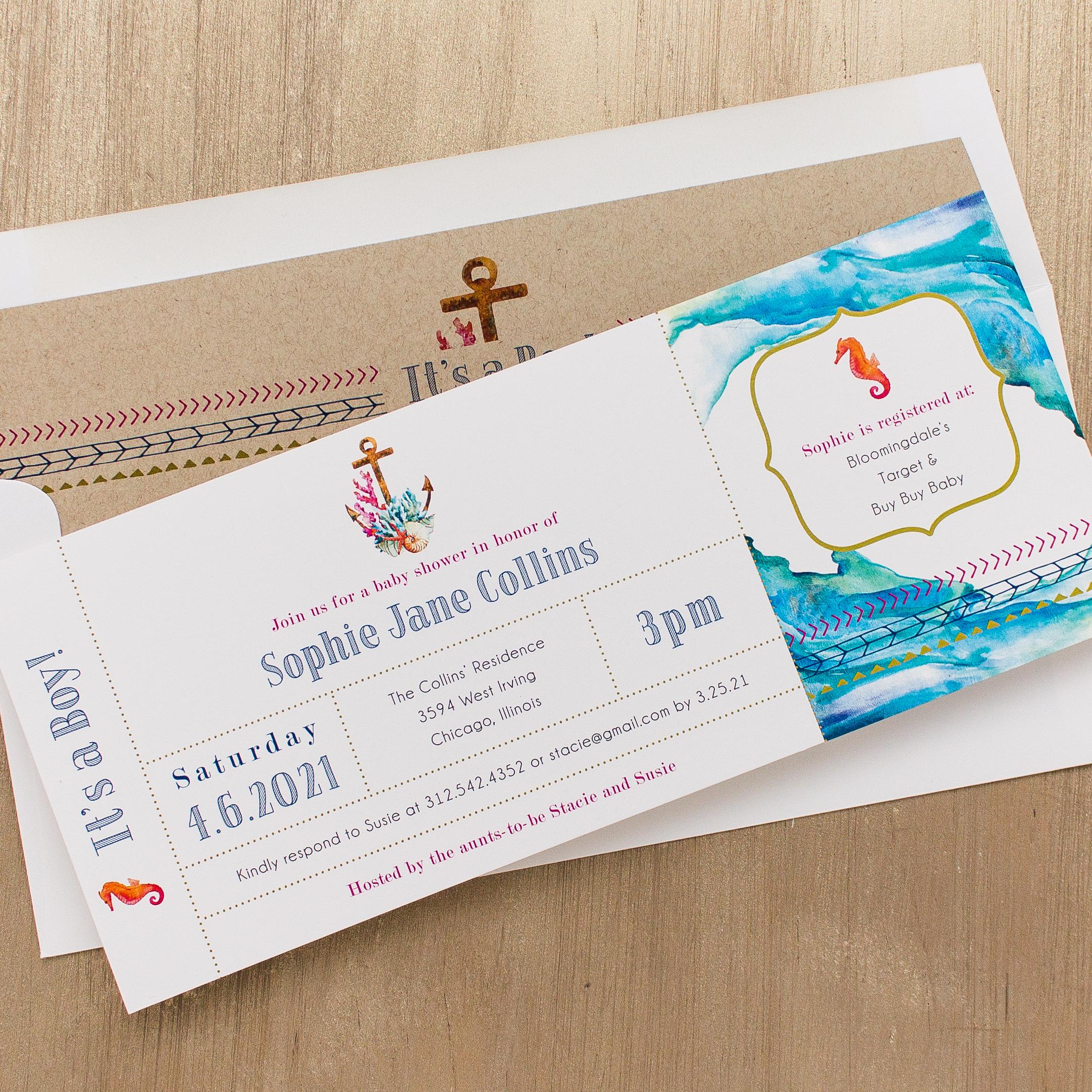 Under The Sea Baby Shower Invitations | Beacon Lane