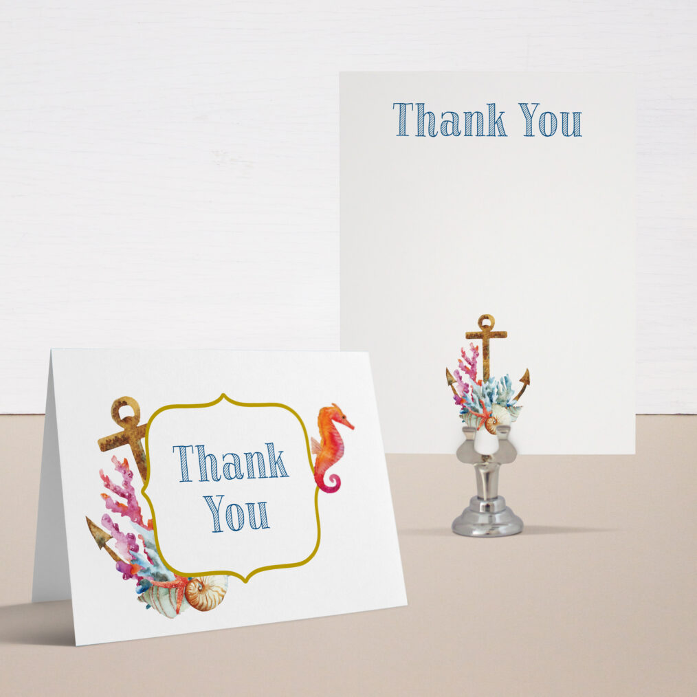 Under The Sea Baby Shower Thank You Cards
