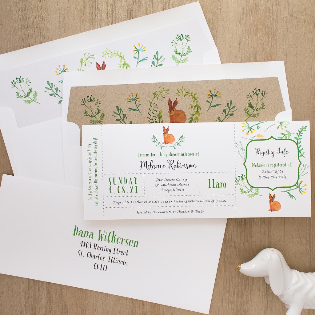 Velveteen Rabbit Baby Shower Invite