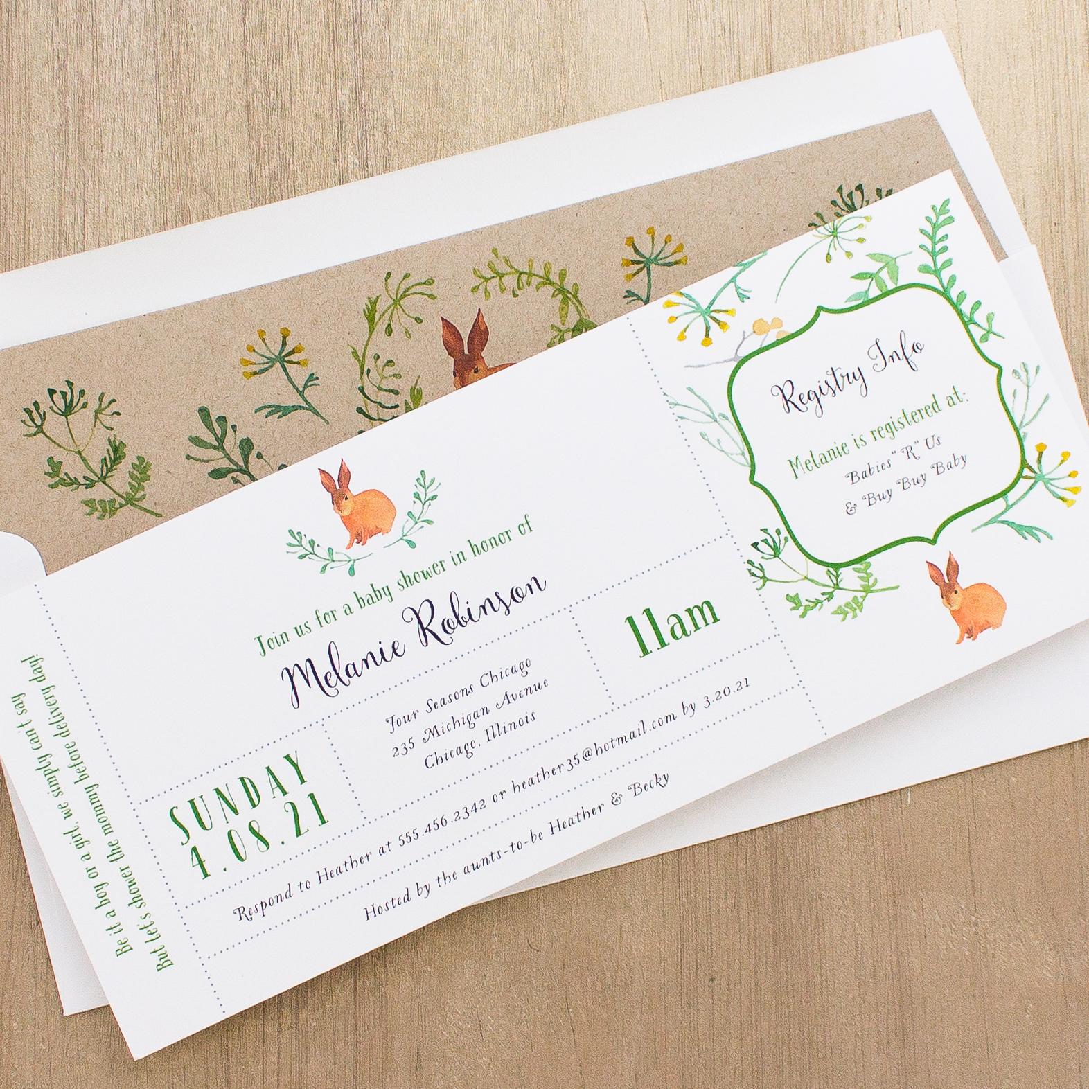 Velveteen rabbit baby shower invitations beacon lane velveteen rabbit baby shower invitations filmwisefo