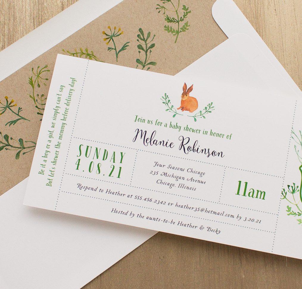 Velveteen Rabbit Baby Shower Invitation