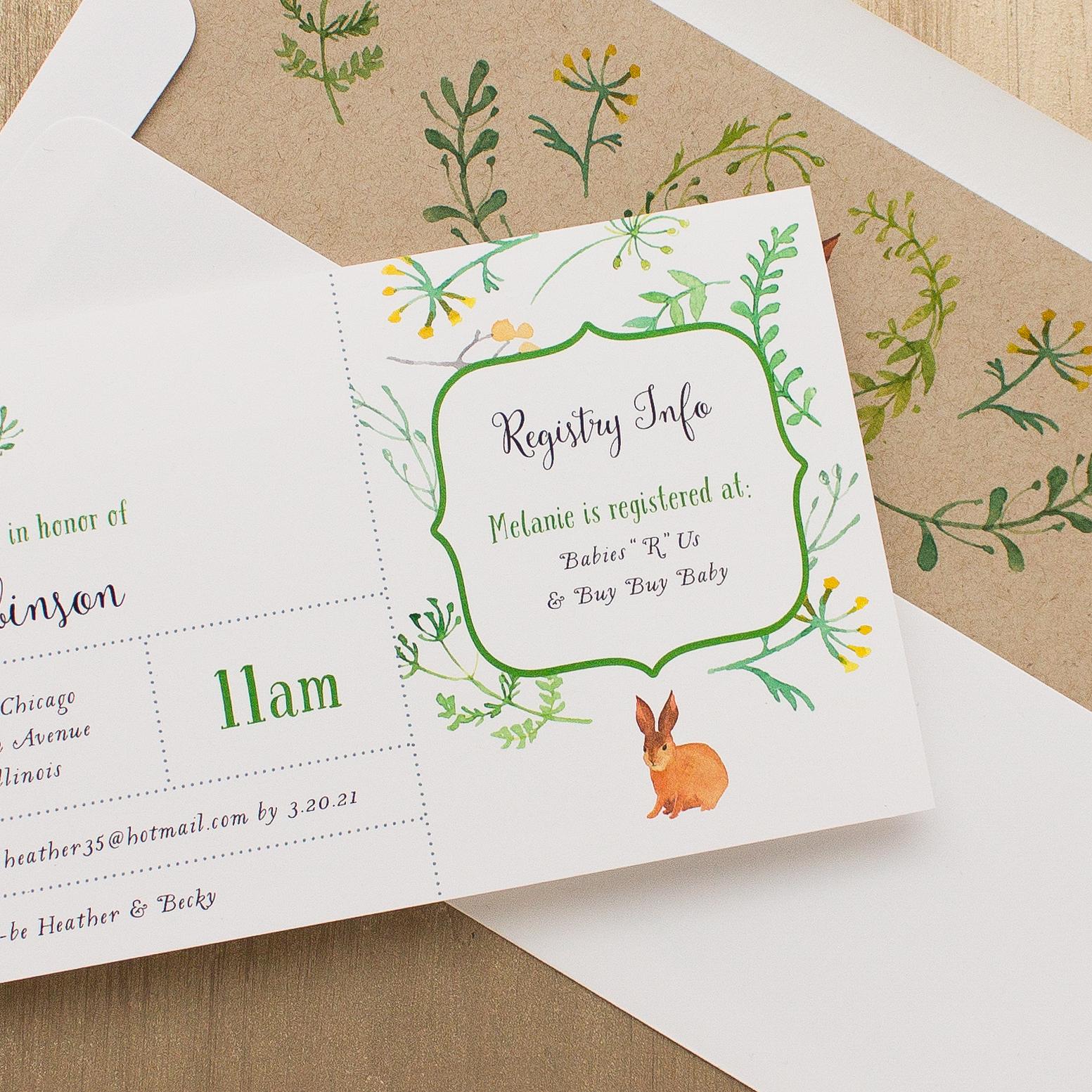 Velveteen Rabbit Baby Shower Invitations