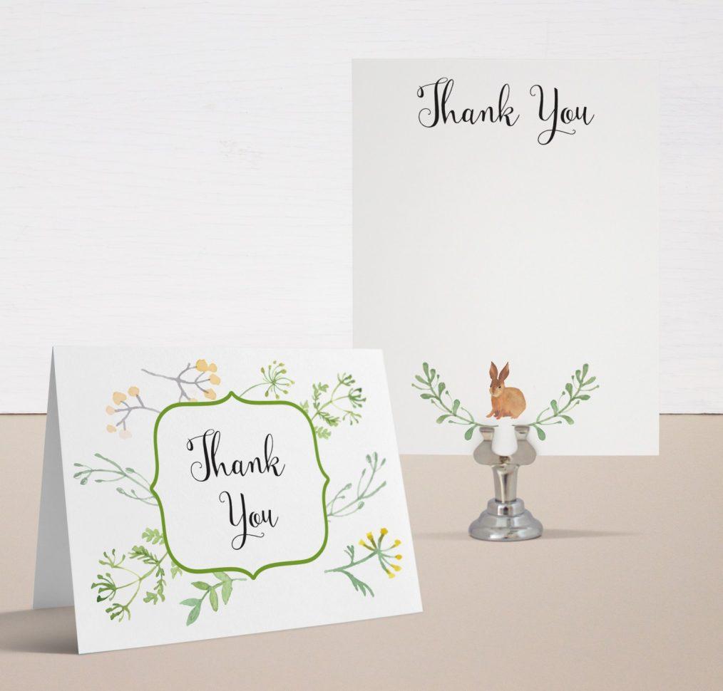 Velveteen Rabbit Baby Shower Thank You Cards