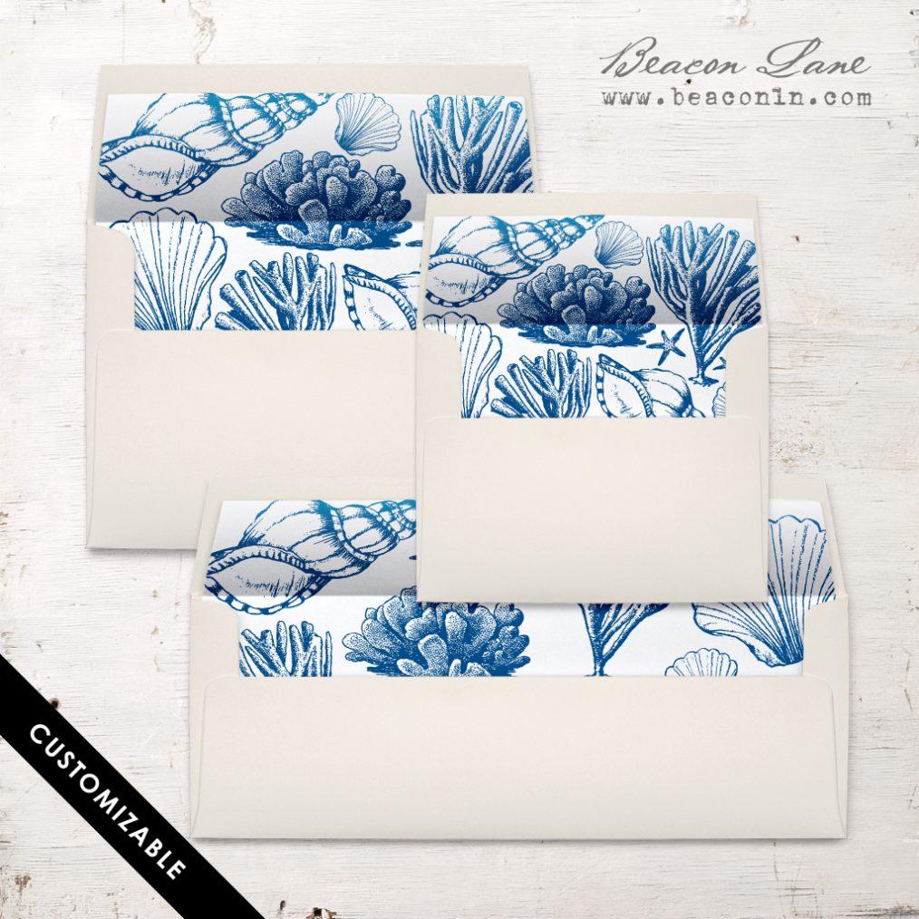Beach Blues Envelope Liner