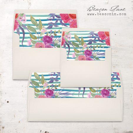 Beach Florals Envelope Liner