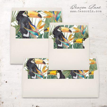 Birds of Paradise Envelope Liner