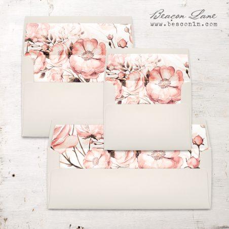 Blush Florals Envelope Liner